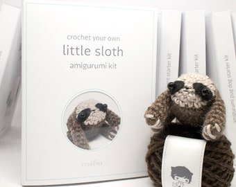 crochet kit - amigurumi sloth craft kit