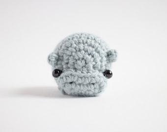 crochet hippo stuffed animal - amigurumi hippo plush