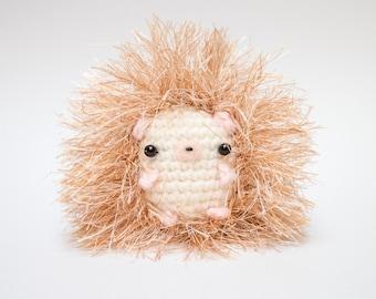 cute hedgehog stuffed animal - crochet hedgehog plush toy