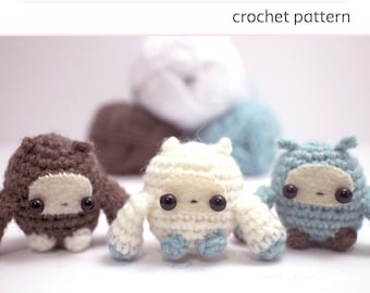 crochet pattern - amigurumi monsters