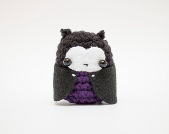 crochet vampire plush toy - amigurumi vampire doll