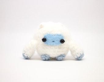 crochet yeti monster plush toy - amigurumi monster doll