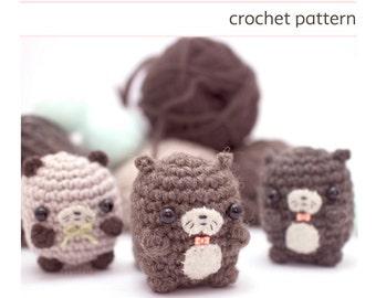 amigurumi otter pattern - crochet otter pattern