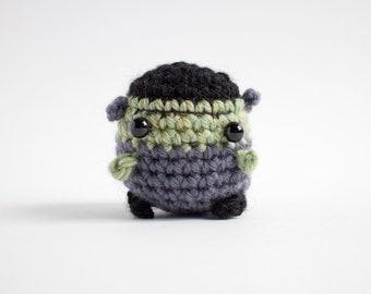 crochet frankenstein monster amigurumi - creepy cute plush toy