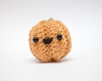 Halloween pumpkin decor - crochet jack o lantern plush toy