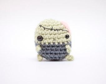 crochet zombie plush doll - kawaii amigurumi zombie