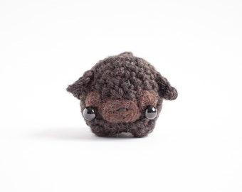 black pug amigurumi - crochet pug gift