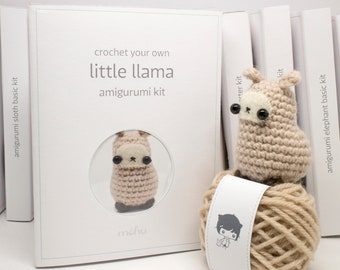 crochet kit - amigurumi llama diy craft kit
