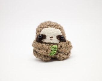 sloth stuffed animal - cute sloth gift - crochet amigurumi plush toy