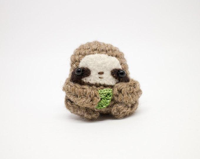 Featured listing image: sloth stuffed animal - cute sloth crochet amigurumi plush toy