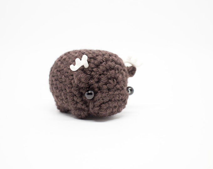 Featured listing image: crochet moose amigurumi - mini moose plush toy