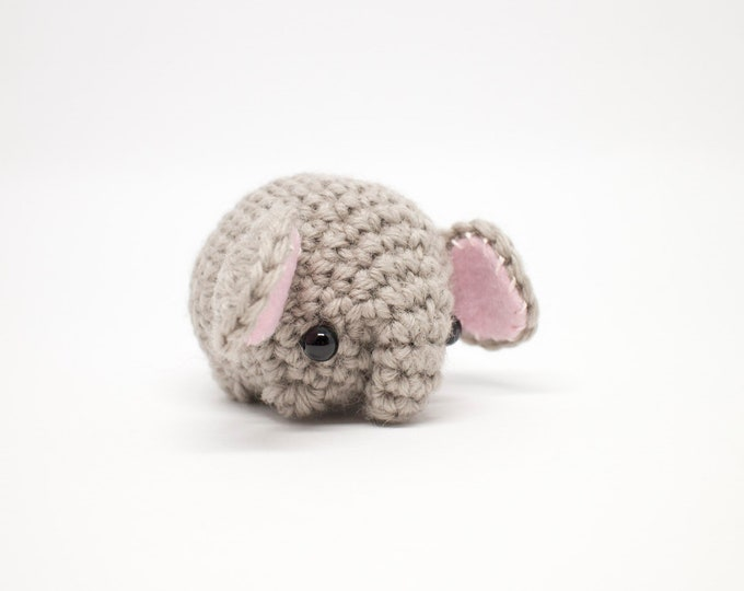 Featured listing image: crochet elephant plush toy - cute mini amigurumi animal