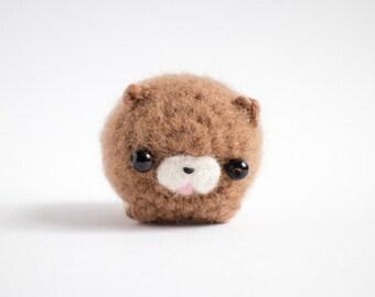 Pomeranian dog plush - crochet amigurumi art toy