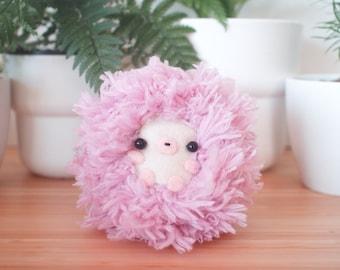 Fluffy purple hedgehog stuffed animal - cute hedgehog plush toy