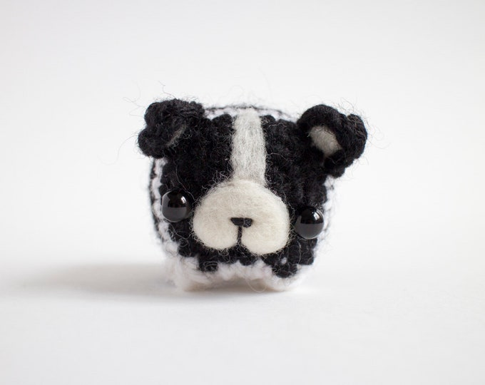 Featured listing image: Boston terrier amigurumi toy - cute crochet dog plush