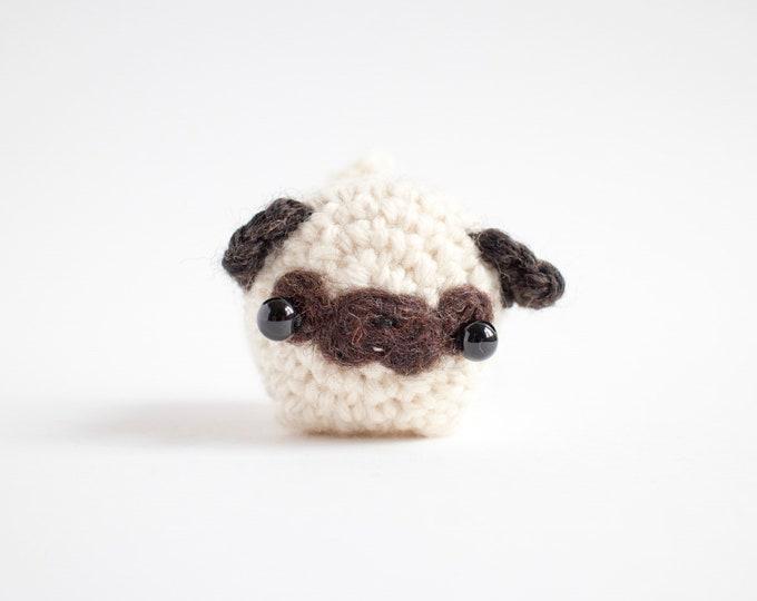 Featured listing image: crochet pug amigurumi - cute dog plush