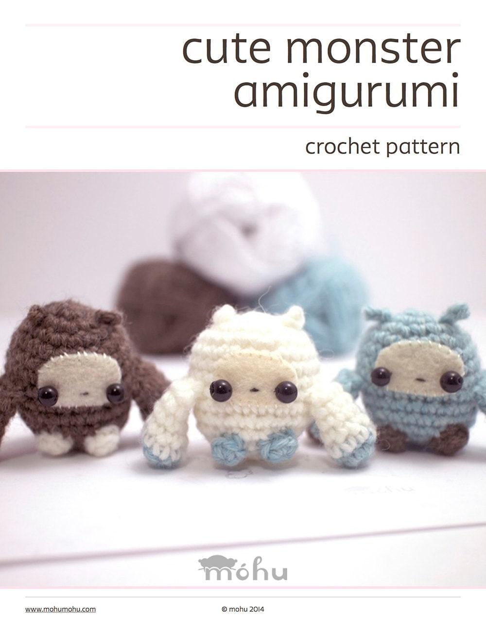 Free Crochet Monster Patterns | Crochet monsters, Crochet animals ... | 1307x1000