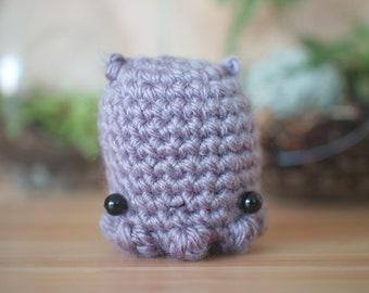 purple dumbo octopus amigurumi - cute crochet stuffed animal