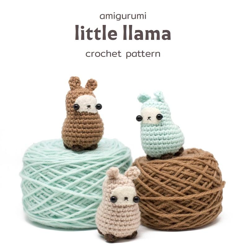 amigurumi llama pattern  easy crochet toy pattern image 1