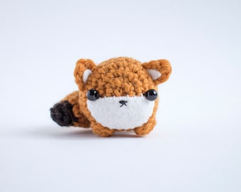 amigurumi fox - cute crochet animal plushie