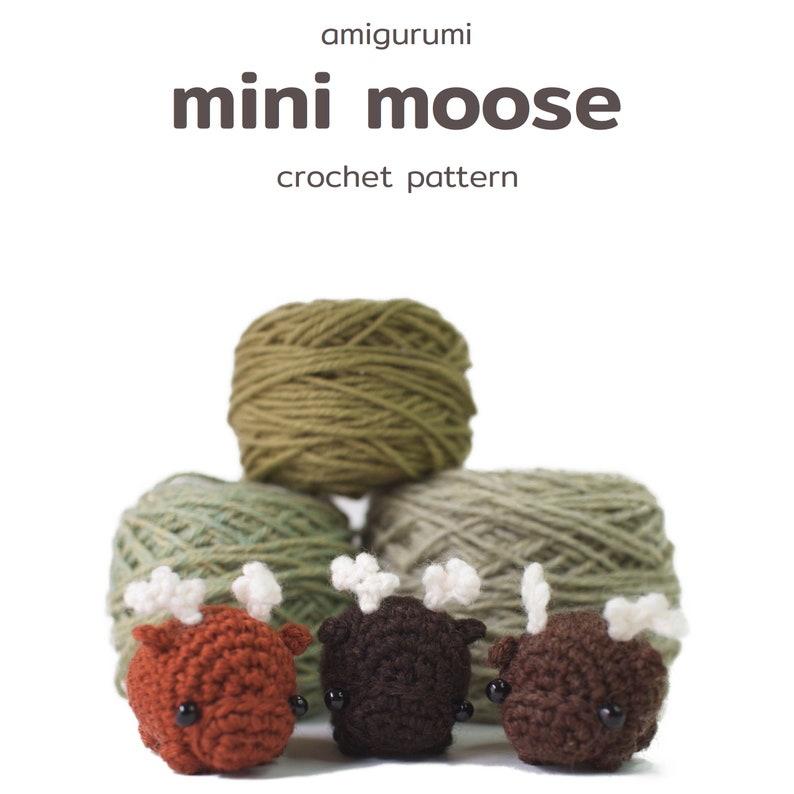 crochet moose pattern  amigurumi moose toy pattern image 1