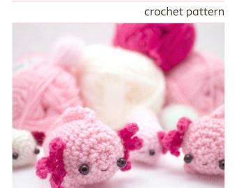 crochet axolotl pattern - amigurumi animal pattern