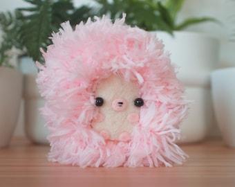 Fluffy pink hedgehog stuffed animal - cute hedgehog plush toy