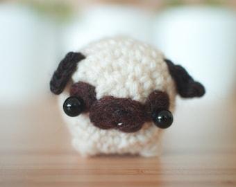pug plush toy - miniature pug lover gift