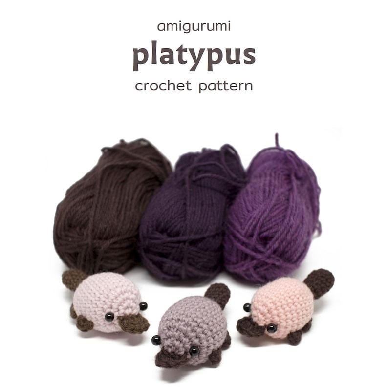 crochet platypus pattern  easy amigurumi pattern image 1
