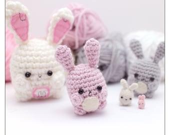 amigurumi bunny pattern - crochet animal pattern