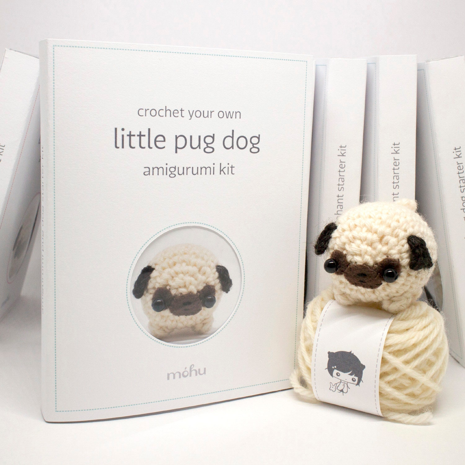 Pug Dog Crochet Pattern Lots Of Ideas Video Tutorial | Crochet dog ... | 1500x1500