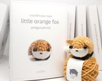 crochet kit - amigurumi fox diy craft kit