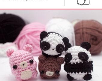 crochet panda pattern - kawaii amigurumi pattern