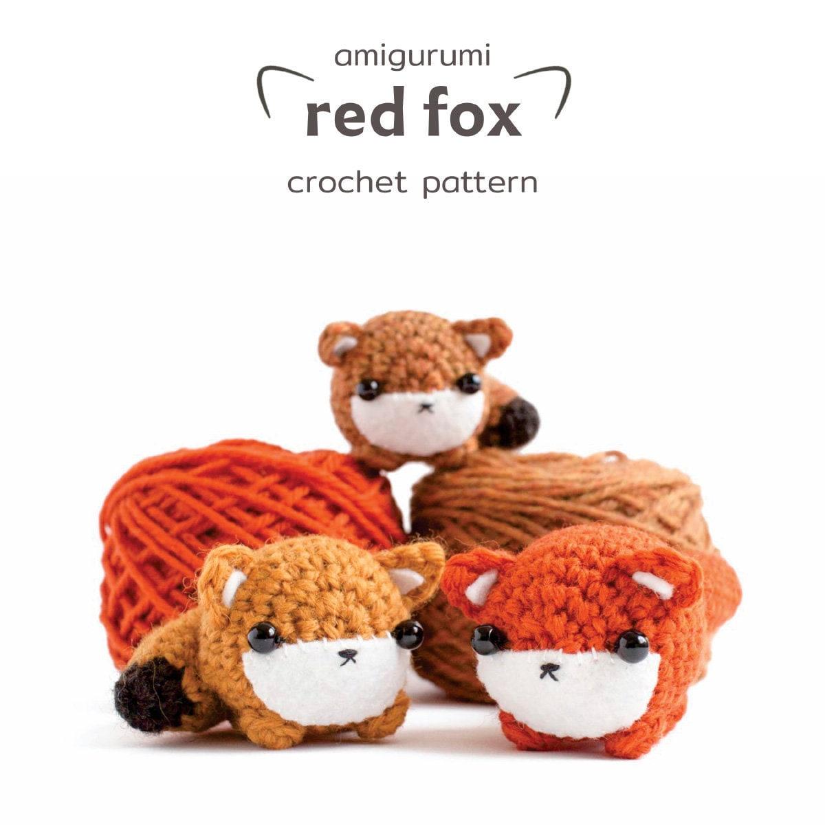 Red fox amigurumi crochet pattern animal doll fox in knitted | Etsy | 1200x1200