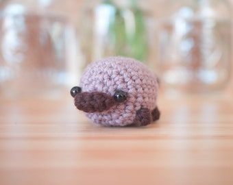 platypus plush stuffed animal - crochet platypus amigurumi toy