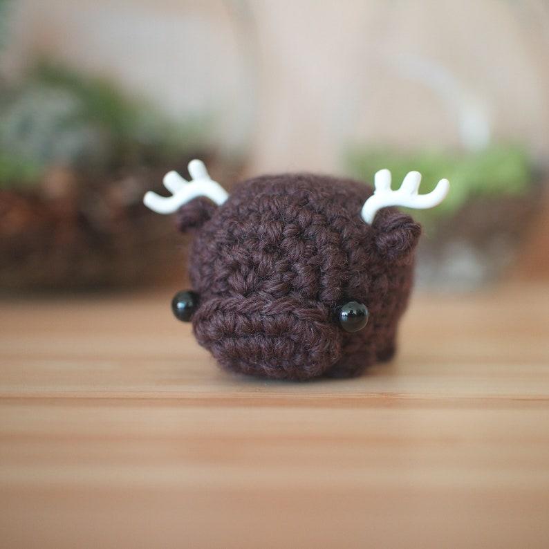 crochet moose amigurumi  mini moose plush toy image 1