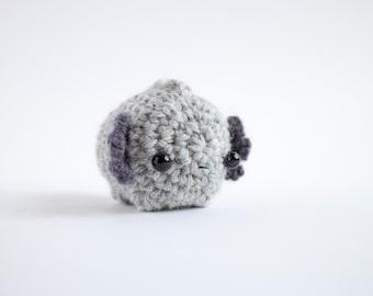 grey axolotl plush - crochet amigurumi animal