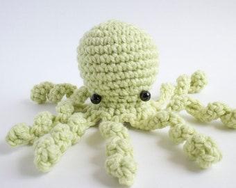 giant green octopus plush - crochet amigurumi animal