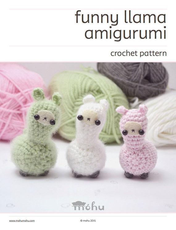 crochet llama pattern cute amigurumi plush pattern | Etsy