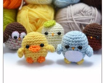 little birds pattern set - crochet amigurumi pattern