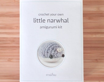 amigurumi kit - crochet narwhal craft kit
