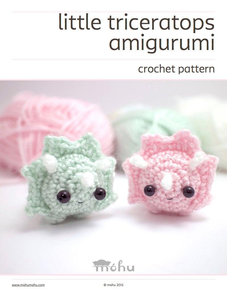 Crochet Dinosaur Pattern Amigurumi Triceratops Pattern