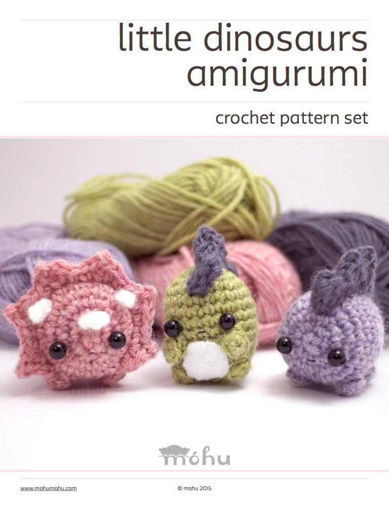 Dinosaurs Crochet Pattern Set Amigurumi Pattern
