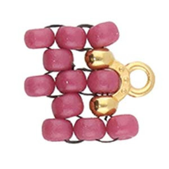 2 Pair Bead Ending Works with Miyuki 8//0 Beads and More! CYMBAL Quality Rose Gold Plate Lakos III Cymbal Metal Fashion Elements