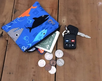 Men Coin Purse, Fathers Day Gift Ideas, Change Purse, Ear Bud Pouch, Gift for Him Personalized, Cyclist Pouch, Business Card Holder