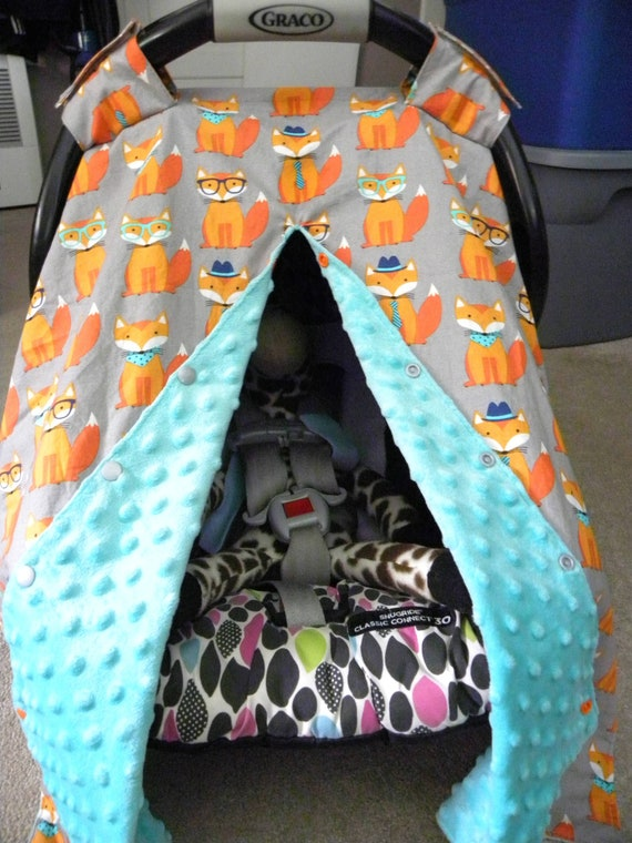 Woodland Car Seat Canopy Boy Car Seat Cover Baby Shower