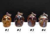 Pietersite Carved Crystal Skull Pendant