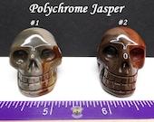 Polychrome Jasper Carved Crystal Skull