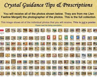 "Official Crystal Guidance ""Crystal Tips & Prescription"" Photos for Healing - 135 photos (Digital Download)"