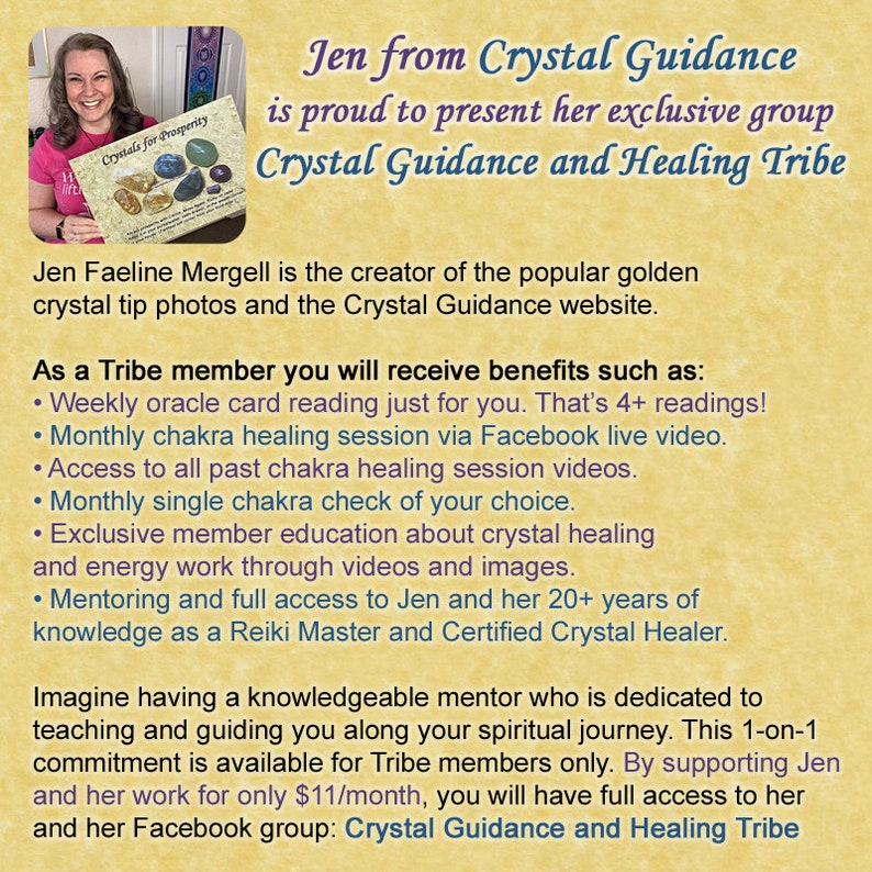 Crystal Guidance and Healing Tribe Membership Area and Group image 0